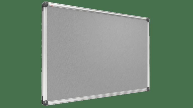 Lavagna colorata con superificie in feltro 90x60cm – grigia